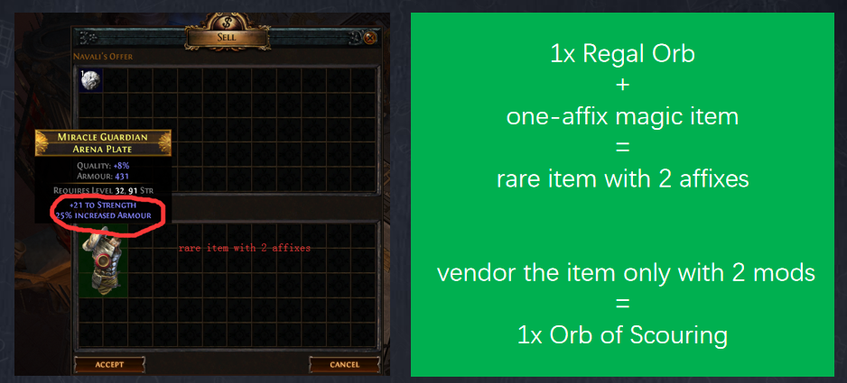Vendor Recipe To Farm Orb of Scouring
