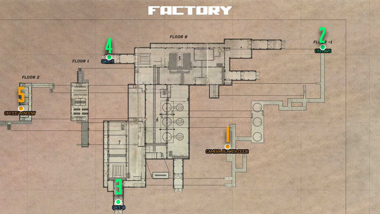 Factory Map Exit
