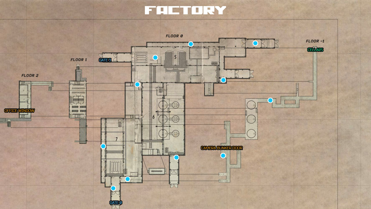 Factory Map Spawns