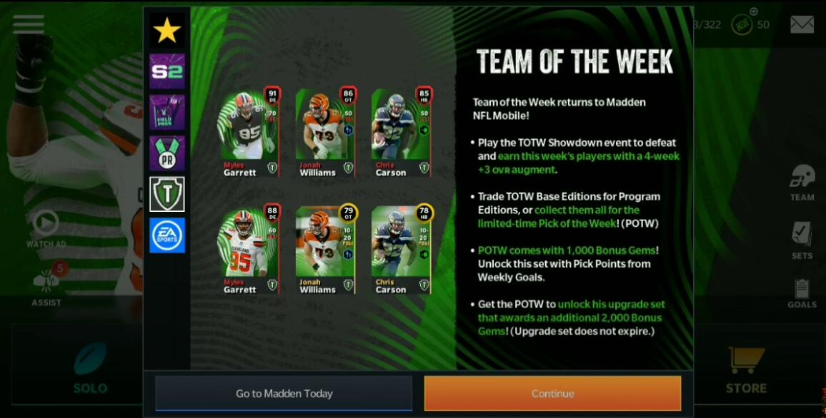 The Madden 21 TOTW8 update put Myles Garrett in the lead